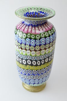 Amedeo Rossetto (Eugenio Ferro & Co.) - Big Millefiori Vase