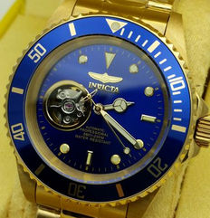 Invicta Automatic Professional – 200 m diver's watch – skeleton dial – 24 jewels – men's watch