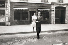 Unknown/Paris Match - Pierre Cardin carrying mannequin - 1972
