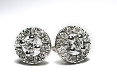 White Gold earrings with 26 diamond/brilliant - 0,51 ct  H-VS