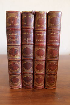 J. Michelet - Lot of 4 books of the publisher Hachette - 1858/1861