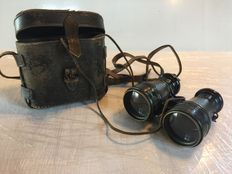Pair of binoculars in original case  - France - Algerian war