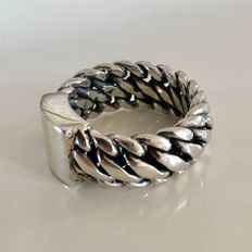Silver 925 link ring – 20 mm
