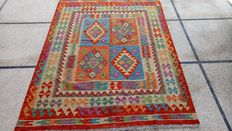 ULTRA FINE QUALITY Vegi Hand Made  Chobi Kilim Rug Double Face Design 202 x 152 cm