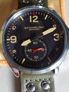 Stuhrling Original Flieger, men's wristwatch, never used