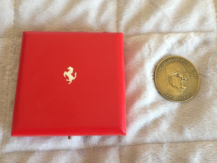Coin First Anniversary of Enzo Ferrari's Death + 2 silver Formula 1 coins Republic of San Marino 1989