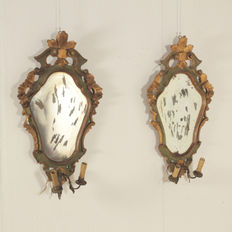 Pair of mirror frames (ventoline)  - Italy - 20th century
