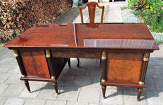 Desk in Empire style with accompanying chair, Belgium, 20th century