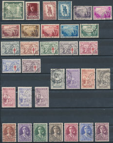 Belgium, 1930-1934, collection between OBP 301 and 394/400