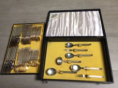 67 piece Drache Solingen 100 silver plated cutlery including cassette, complete