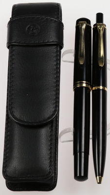 Vintage PELIKAN writing set, M200 Old Style Version piston filler fountain pen & PELIKAN ballpoint pen K200