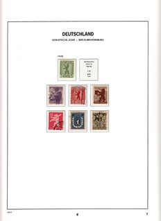 Duitsland DDR 1945/1980 - Collectie in 3 Davo albums