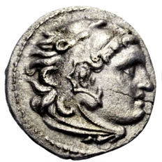 Greek Antiquity – Macedonia – Alexander III the Great (336-323 BC). Silver drachm, posthumously struck, late 4th century BC.