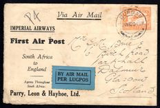 South Africa 1932 - First Flight - South Africa to England, with Stanley Gibbons 41