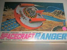 "Alps, Japan - box length: 42 cm - plastic/sheet metal ""Spacecarft Ranger"" battery operated, 70s"