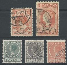 The Netherlands 1920/1924 – Sale release and exhibition stamps – NVPH 104/105 + 136/138
