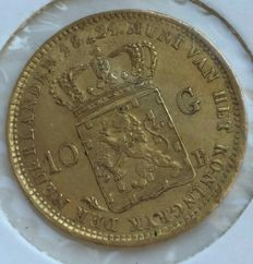 The Netherlands – 10 guilders, 1824B William I – gold