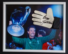Bruce Grobbelaar (Liverpool legend) original signed goalkeepers glove - Deluxe Framed + COA
