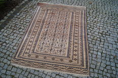 ANTIQUE Turkmen Patina - Vintage Design Hand knotted  170x115