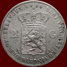 The Netherlands, 2½ guilder coin 1854, Willem III - silver.