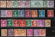 France 1923/1943 – Sizeable lot of precancelled stamps – Yvert between n° 39 et 83