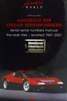 Book - Handbuch der Ferrari Seriennummern - The Raab files revisited - 980 pages