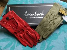 Laimbock two pair of women's (driving) gloves, size 7 (NL).