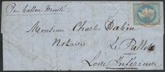 "France 1870 - ""Le Parmentier"" balloon post - canceled, red PARIS SC 14/JANV./1871 - signed Brun"