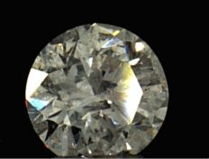 0.34 ct round brilliant cut diamond, Colour D , Clarity I1