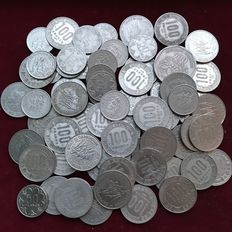Central African States (Cameroon, Chad, Congo, Gabon) - 50, 100 & 500 Francs 1968/1985 (lot of 72 coins)