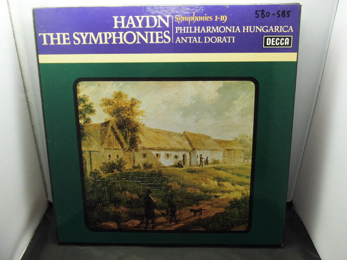 Hydn All The Symphonies from 1 to 104 in 9 LP boxsets(46 lp's) by Phiharmonia Hungarica, conductor Antal Dorati