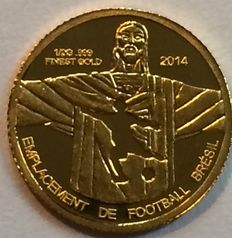 Congo - 100 Francs 2014 'Soccer World Cup' - ½ gr. Gold