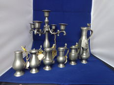 Lot Pewter utensils
