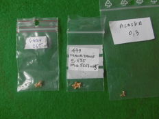 Lot with gold nuggets - 1.5 gm