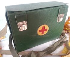 Old Red Cross first-aid case. Origin: Bulgaria Very interesting. 1970s
