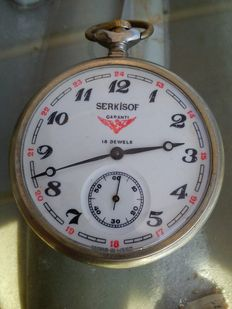 Molnija – Serkisof Garanti – USSR Russian pocket watch from the 1960s