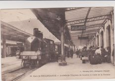 Superb lot of 40 old postcards with trains, stations and tramways