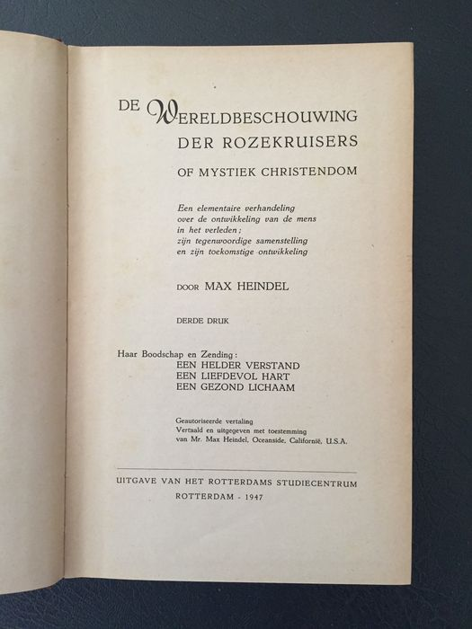 Two Books By Max Heindel On Esoteric Religion 19321947