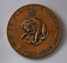 The Netherlands - Liberation medal 5 May 1945 by Oswald Wenkenbach - bronze