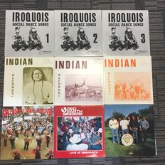 9x Native Indian Music Racords - In very good condition the media is 100% Mint