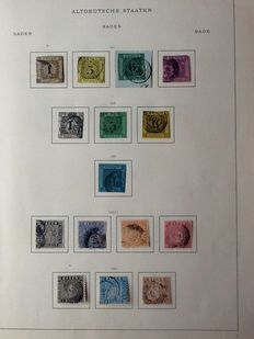 Old German States 1850/1875 – Collection on Schwaneberger album sheets