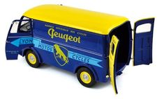 "Norev - Scale 1/18 - Peugeot D4A 1956 ""Cycles Peugeot - Colour Blue/Yellow"
