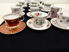 18 English - Fine Bone China cups and saucers