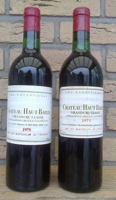 1971 and 1975 Chateau Haut-Bailly, Graves Grand Cru Classe, 2 bottles.