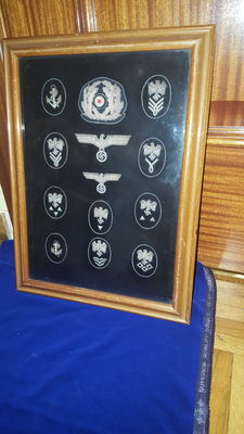 Tableau of Administrative Insignias Kriesgmarine Third Reich
