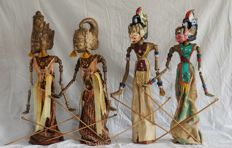 Four Wayang Golek puppets - Java - Indonesia
