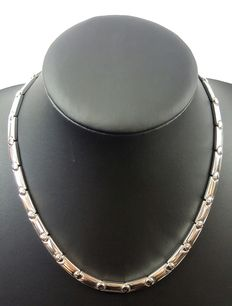 Silver necklace length: 45 cm, width: 5 mm, weight: 71 g, 925k