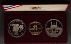 USA - Proof set 1984 Olympics $10 & $1 Dollars Commemorative gold (incl. silver)