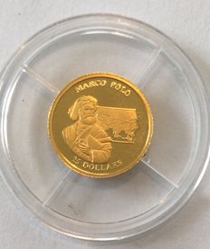 Liberia - 25 Dollar 2001 'Marco Polo' - gold