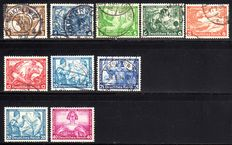 German Empire 1933 - emergency aid, so-called Wagner series, 3 Pfg. to 40 Pfg.